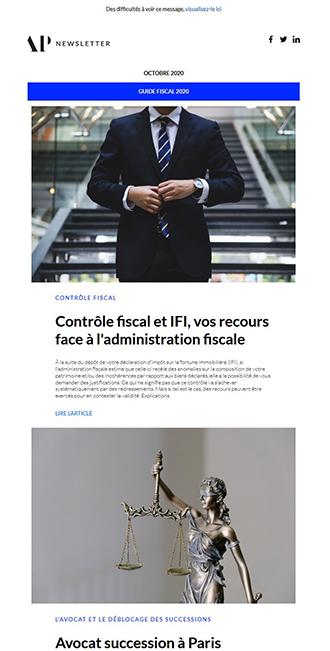Exemple de newsletter